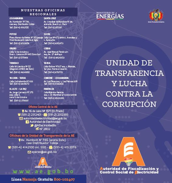 UNIDAD DE TRANSPARENCIA Y LUCHA CONTRA LA CORRUPCIÓN